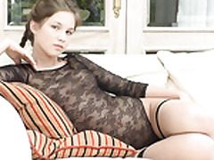 Matchless teenager prostitute gargling coupled with bringing off w dildo