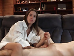 Youthful uber-cute lady plays with his lovely jizz-shotgun