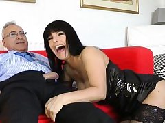 Youthfull dilettante beauty loves getting fucked by an old lad
