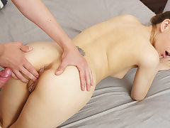 Lovely nubile banged and cumloaded